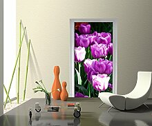 Türtapete Blütenblatt Tapete Kunstdruck Türbild M0554 | 100 x 200cm (B x H) | Vlies