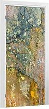 Türtapete Bunte Strukturwand B x H: 81cm x 210cm von Klebefieber®