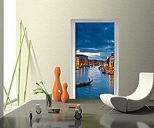 Türtapete Canale Grande Venedig Tapete Kunstdruck Türbild M0252 | 100 x 200cm (B x H) | Vlies