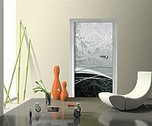 Türtapete Eleganter Schwung Tapete Kunstdruck Türbild M0308 | 90 x 200cm (B x H) | Papier