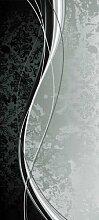 Türtapete Eleganter Schwung TT212 90x200cm Tapete Grunge Klassik Schwarz Grau