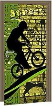 Türtapete FAHRRAD 95 x 210 cm   Türposter - Türpanel - Türfolie selbstklebend - Türaufkleber - Tür Fototapete   PREMIUM QUALITÄT