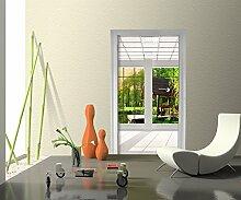 Türtapete Fenster aussicht Tapete Kunstdruck Türbild | 100 x 200cm (B x H) | Dekorfolie selbstklebend
