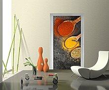 Türtapete Gewürze Tapete Kunstdruck Türbild M0735 | 70 x 200cm (B x H) | Vlies
