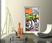 Türtapete Graffiti 2 Tapete Kunstdruck Türbild M0026 | 70 x 200cm (B x H) | Dekorfolie Kratzschutz Ma