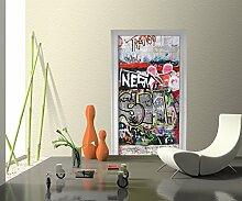 Türtapete Graffiti 3 Tapete Kunstdruck Türbild M0027 | 80 x 200cm (B x H) | Papier