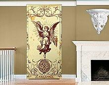 TürTapete Grunge Angel Tapete Engel Ornament Dekoration Romantik Flügel, Größe:208cm x 118cm