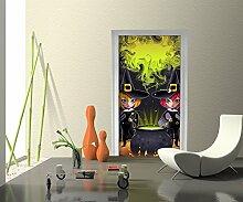 Türtapete Hexen Tapete Kunstdruck Türbild M0435 | 90 x 200cm (B x H) | Papier