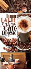 Türtapete Kaffee TT042 90x200cm Tapete Cappucchino Espresso Café