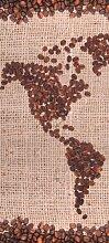 Türtapete Kaffeekontinent Amerika TT011 90x200cm