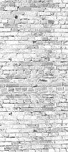 Türtapete Klinkersteine Grau TT358 90x200cm