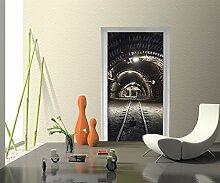 Türtapete Kohlebergwerk Tapete Kunstdruck Türbild M0277 | 100 x 200cm (B x H) | Papier