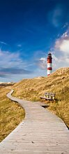 Türtapete Leuchtturm mit Holzweg TT233 90x200cm