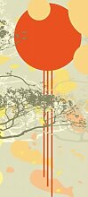Türtapete Maddox TT098 90x200cm Floral Natur Tapete Orange