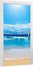 Türtapete Meer B x H: 91cm x 210cm von Klebefieber®