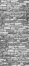 Türtapete Natursteine Grau TT359 90x200cm Tapete