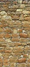 Türtapete Natursteinmauer TT031 90x200cm Tapete Mauer Wand Stein