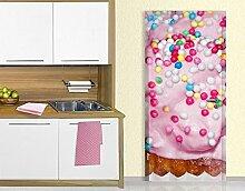 TürTapete No.YK10 Cupcake Motivtapete Türdesign Küche Muffin Streusel Sahne, Größe:221cm x 106cm
