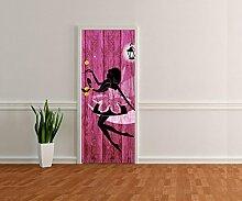 Türtapete Porträt einer schönen Fee Tapete Kunstdruck Türbild M0690 | 80 x 200cm (B x H) | Vlies