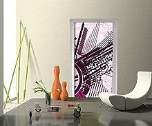Türtapete Roxy Muster Tapete Kunstdruck Türbild M0155 | 80 x 200cm (B x H) | Papier