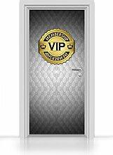 Türtapete selbstklebend einteilig - VIP Tür grau