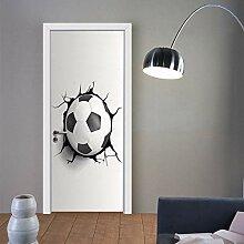 Türtapete Selbstklebend Fußball Brechen Wand 77