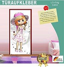 Türtapete Selbstklebend Girl 87x200cm Türfolie -