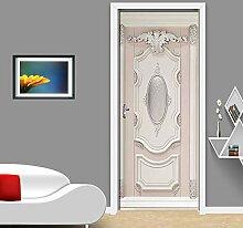 Türtapete Selbstklebend Tür 77X200Cm Weißes