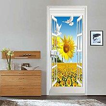 Türtapete Selbstklebend Tür 88X200Cm Fenster