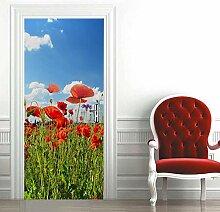 Türtapete Selbstklebend Tür 88X200Cm Rote