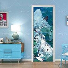 Türtapete Selbstklebend Tür 95X215Cm Anime