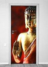 Türtapete selbstklebend Tür Tapete Türfolie 90x200 Tuerfolie Wandfolie Buddha 90x200 Tuerposter Türtapete Türfolie
