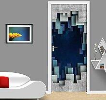 Türtapete Selbstklebend Türposter 3D Bewirken