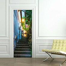 Türtapete selbstklebend TürPoster - Alte Strasse - Fototapete Türfolie Poster Tapete , 77*200cm