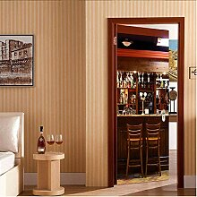 Türtapete Selbstklebend Türposter Bar Dekorfolie
