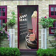 Türtapete Selbstklebend Türposter Kino 3D Pvc