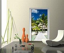 Türtapete Sommertraum Tapete Kunstdruck Türbild | 90 x 200cm (B x H) | Dekorfolie selbstklebend