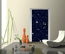 Türtapete Sternenhimmel Tapete Kunstdruck Türbild M0019 | 90 x 200cm (B x H) | Papier