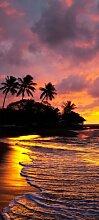 Türtapete Strand im Sonnenuntergang TT147