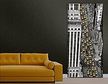 TürTapete Taxiverkehr in Manhattan Tapete New York Amerika Big Apple, Größe:208cm x 81cm