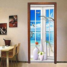 Türtapete Türposter 3D Türaufkleber - Fenster