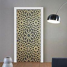 Türtapete Türposter 3D Türaufkleber - Goldene