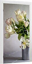Türtapete Tulpen B x H: 91cm x 200cm von Klebefieber®