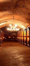 Türtapete Weinkeller TT354 90x200cm Tapete Bordeaux Chateau Wein