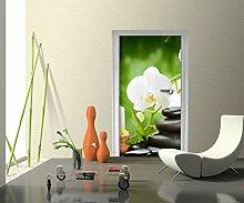 Türtapete Wellness Tapete Kunstdruck Türbild | 90 x 200cm (B x H) | Dekorfolie selbstklebend