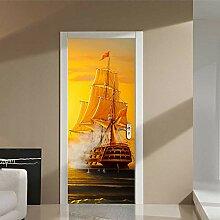 Türtapeten Pvc Tür Aufkleber Segelboot Poster