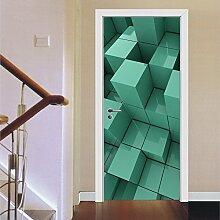 Türtapeten Selbstklebend 3D Geometrische Kunst