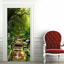Türtapeten Wald Tür Aufkleber Wandbild 3D