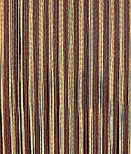 Türvorhang Fadenvorhang Braun/Beige 100x200cm PVC