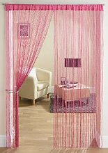 Türvorhang, Fadenvorhang, schein-Gewinde, 90cm x 200cm, rosa